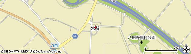 福島県会津若松市河東町八田(宮前甲)周辺の地図