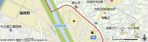 新潟県長岡市猫興野周辺の地図