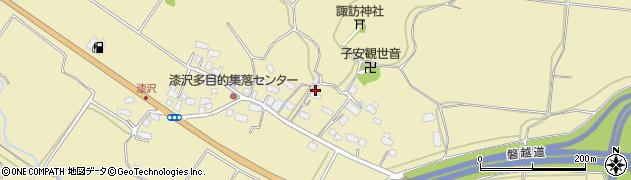 福島県会津若松市河東町八田(漆沢)周辺の地図