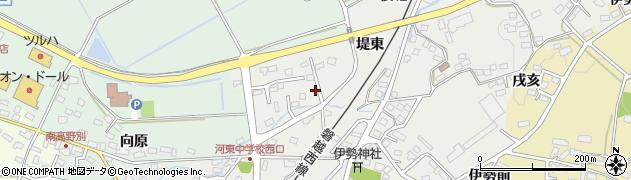 福島県会津若松市河東町広田(堤己)周辺の地図
