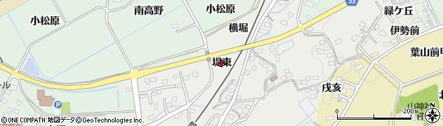福島県会津若松市河東町広田(堤東)周辺の地図
