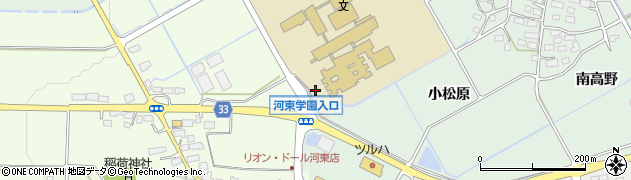 福島県会津若松市河東町南高野(金剛田)周辺の地図
