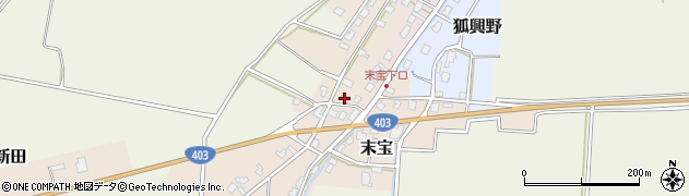 新潟県長岡市末宝周辺の地図