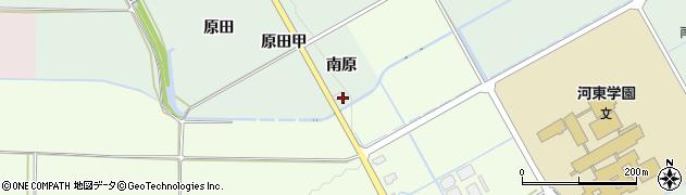 福島県会津若松市河東町熊野堂(南原)周辺の地図