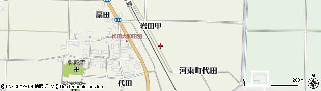 福島県会津若松市河東町代田周辺の地図