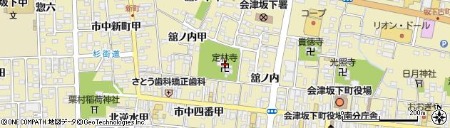 定林寺周辺の地図