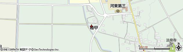 福島県会津若松市河東町熊野堂(櫓甲)周辺の地図