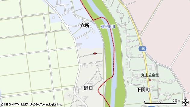 〒954-0121 新潟県長岡市野口の地図