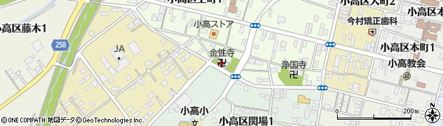 金性寺周辺の地図