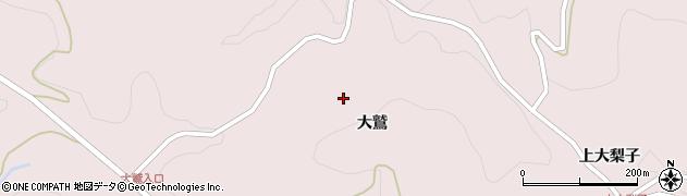 福島県二本松市戸沢(大鷲)周辺の地図