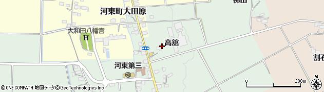 福島県会津若松市河東町熊野堂(高舘)周辺の地図