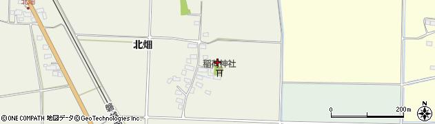 福島県会津若松市河東町代田(北畑)周辺の地図