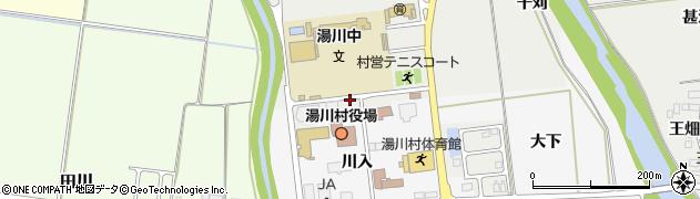 福島県河沼郡湯川村周辺の地図
