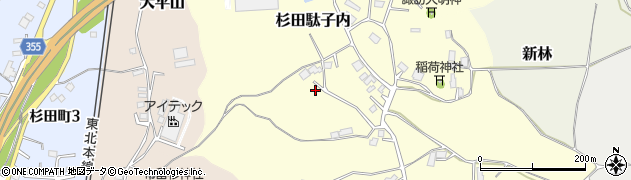 福島県二本松市杉田駄子内周辺の地図
