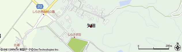 新潟県三条市矢田周辺の地図