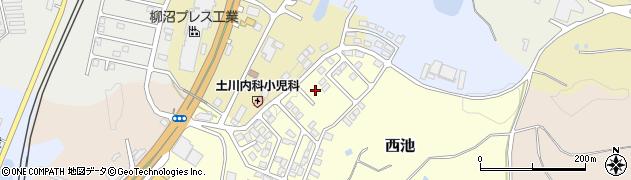 福島県二本松市西池周辺の地図