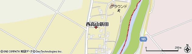 新潟県長岡市西高山新田周辺の地図