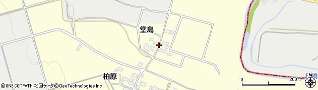 福島県会津若松市河東町大田原(堂島)周辺の地図