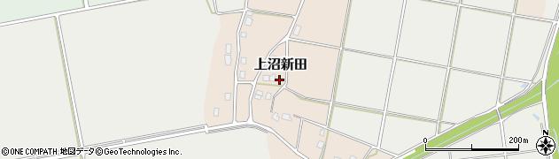 新潟県長岡市上沼新田周辺の地図