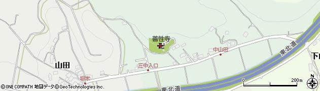 善性寺周辺の地図