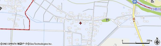福島県会津若松市河東町福島(島原)周辺の地図