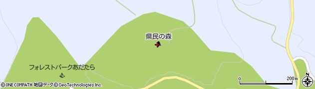 ふくしま県民の森 フォレストパークあだたら周辺の地図