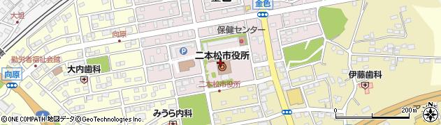 福島県二本松市周辺の地図