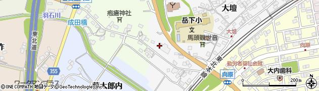 福島県二本松市大壇周辺の地図
