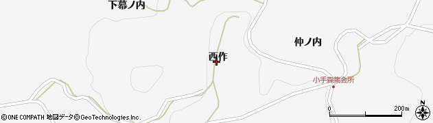 福島県二本松市針道(西作)周辺の地図