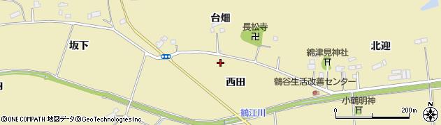 福島県南相馬市原町区鶴谷西田周辺の地図
