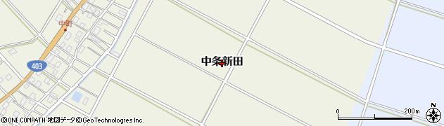 新潟県長岡市中条新田周辺の地図