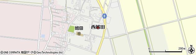 新潟県三条市西鱈田周辺の地図