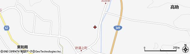 福島県二本松市針道(上堰)周辺の地図
