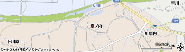 福島県南相馬市原町区矢川原堂ノ内周辺の地図