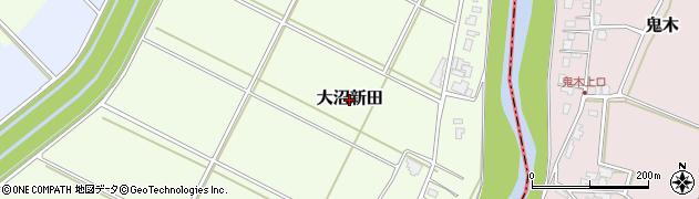 新潟県長岡市大沼新田周辺の地図