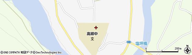 喜多方市 高郷学校給食センター周辺の地図
