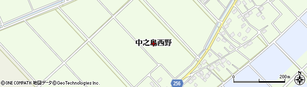 新潟県長岡市中之島西野周辺の地図