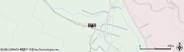 福島県二本松市新田周辺の地図