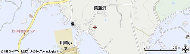 福島県二本松市小沢(菖蒲沢)周辺の地図
