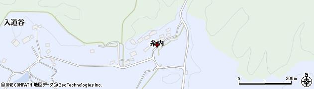 福島県二本松市上川崎(糸内)周辺の地図
