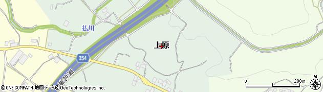 福島県二本松市上原周辺の地図