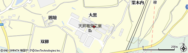 福島県二本松市渋川(大黒)周辺の地図