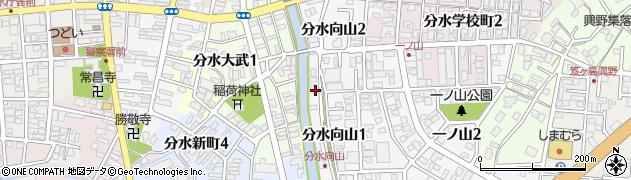 新潟県燕市分水向山周辺の地図