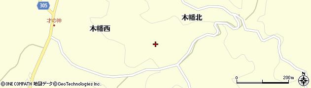 福島県二本松市木幡(西戸)周辺の地図