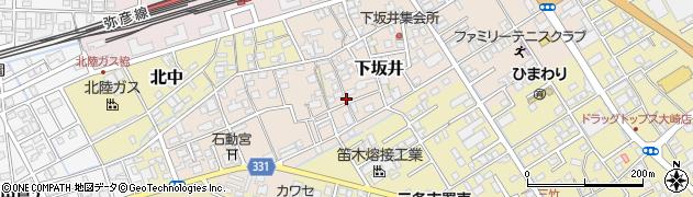 新潟県三条市下坂井周辺の地図