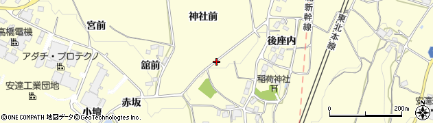 福島県二本松市渋川(後座内)周辺の地図