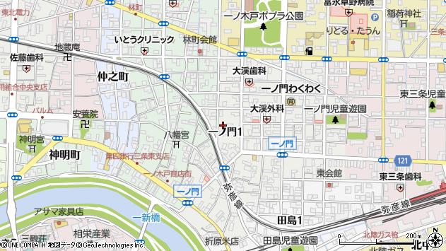 〒955-0045 新潟県三条市一ノ門の地図