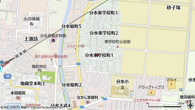 〒959-0106 新潟県燕市分水東学校町の地図