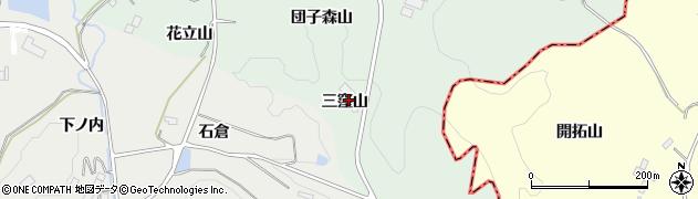 福島県二本松市下川崎(三窪山)周辺の地図