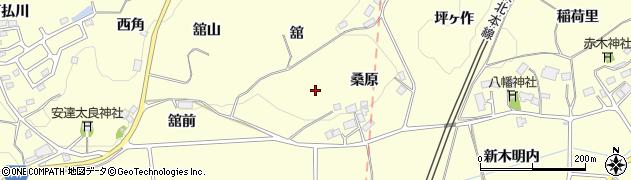 福島県二本松市渋川(桑原)周辺の地図